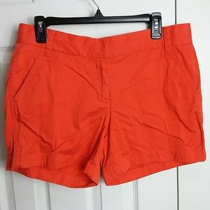 J. Crew Orange Broken In Chino Shorts Sz 8